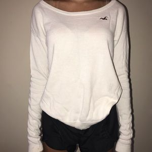 White Hollister Knitted Sweater